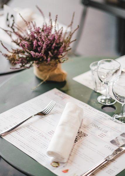 Comment créer le menu d'un restaurant?